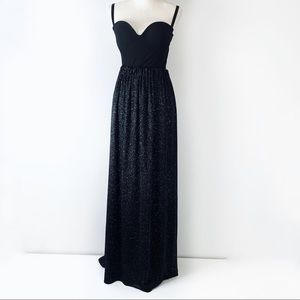 Dresses & Skirts - ✨Maxi Sparkly Silver Formal Prom Black Skirt✨